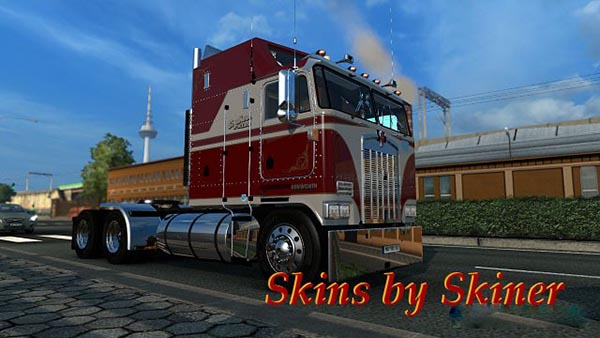 Kenworth K100 White & Red Skin