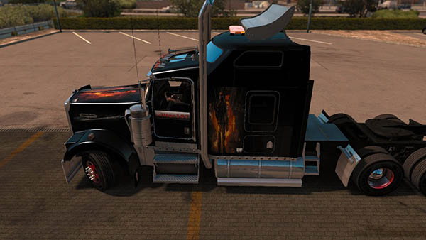 Kenworth W900 Black Ops Skin