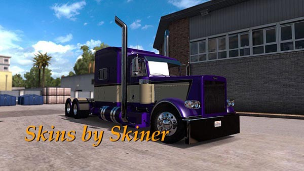 Peterbilt 389 Metallic Purple Skin update
