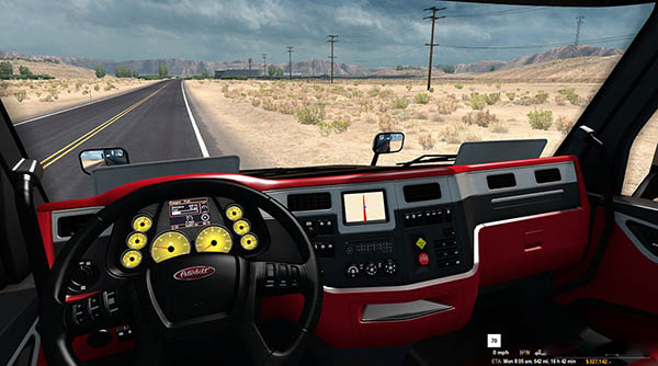 Peterbilt 579 Ferrari Interior FINAL